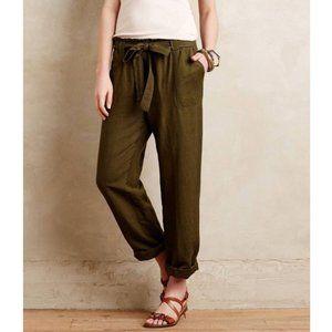 Anthropologie Cartonnier Olive Paperbag Trouser 8